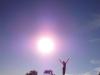 Tinka in the sun