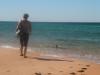 Muddi mit Delfin am Cape Peron