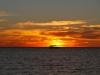 Sonnenuntergang am Strand von Coral Bay