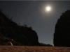 Unser Nachtlager unter Sternenhimmel... Nein, das ist der Mond und nicht die Sonne